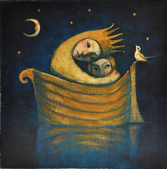 Image result for fleeing from moon paintings