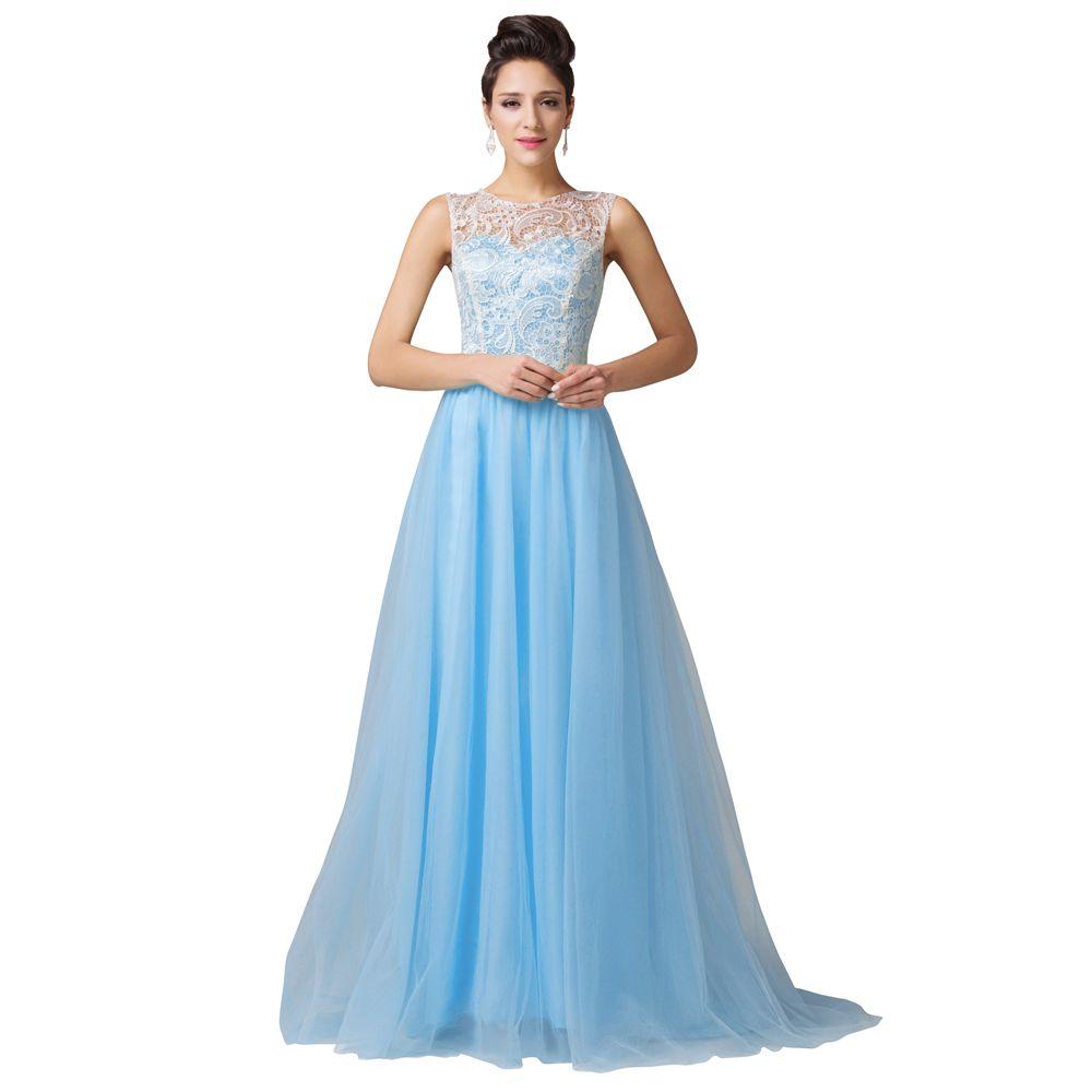 Green/Black/White/ Blue Lace Prom Dresses Robe De Bal Longue 2016 ...