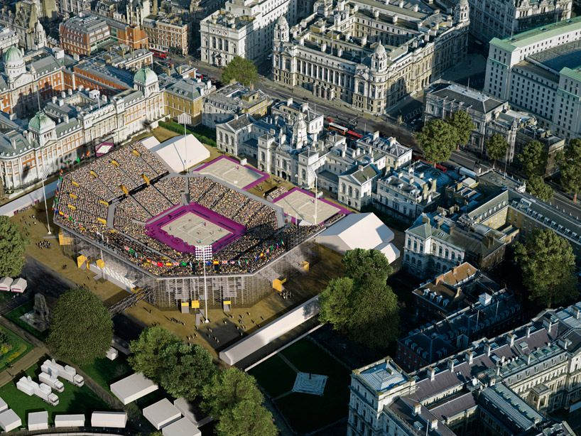 populous and atkins: beach volleyball stadium london 2012