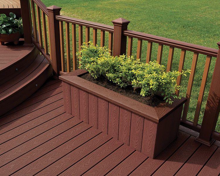 Trex Select In Madeira Deck Designs Backyard Building A Deck