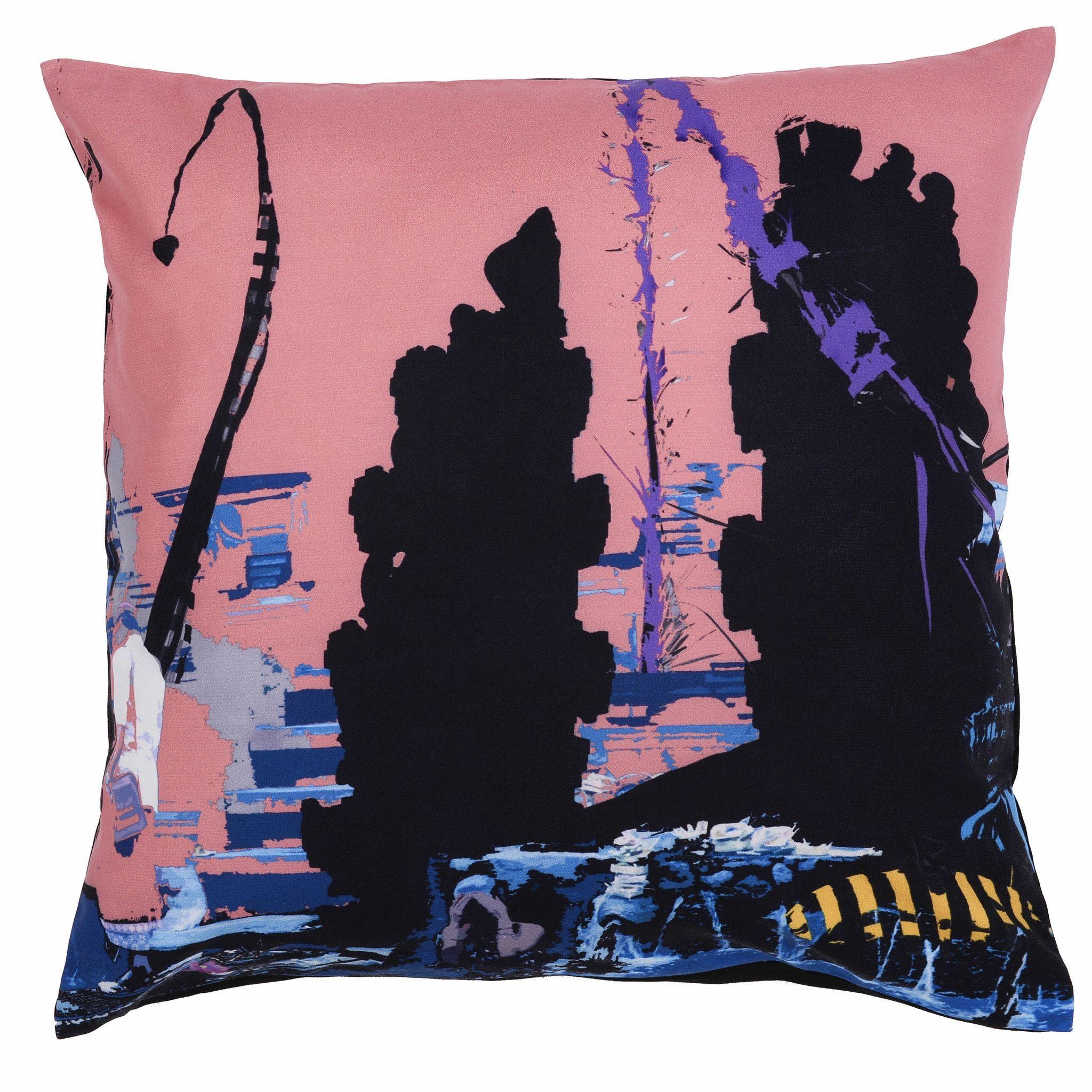 Falling water cushion cover