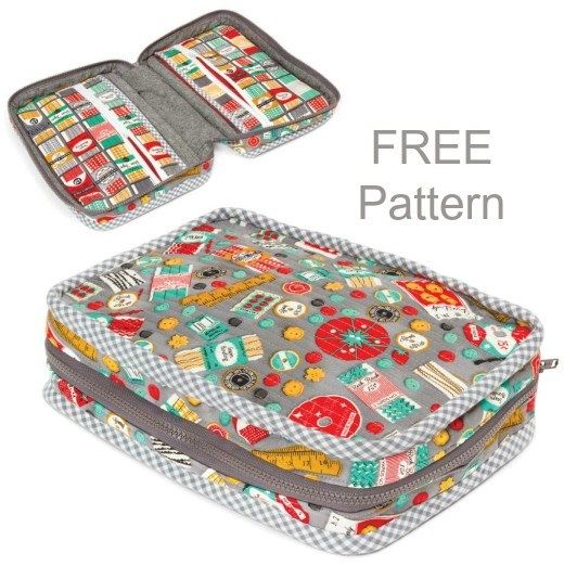 Carry along sewing case - FREE pattern #sewingbeginner