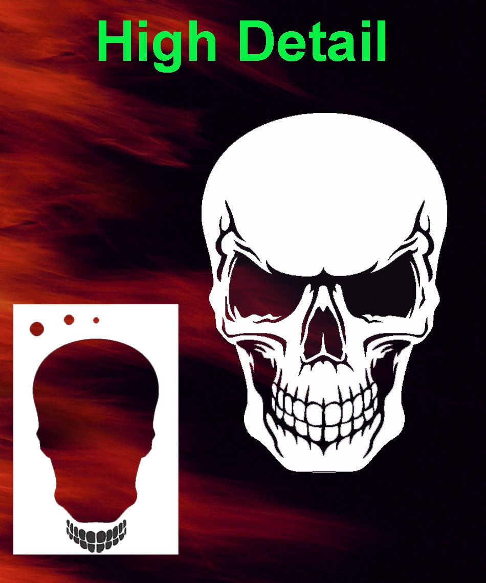 Tribal Skull Double Set group 1 Airbrush Stencil Spray Vision air brush