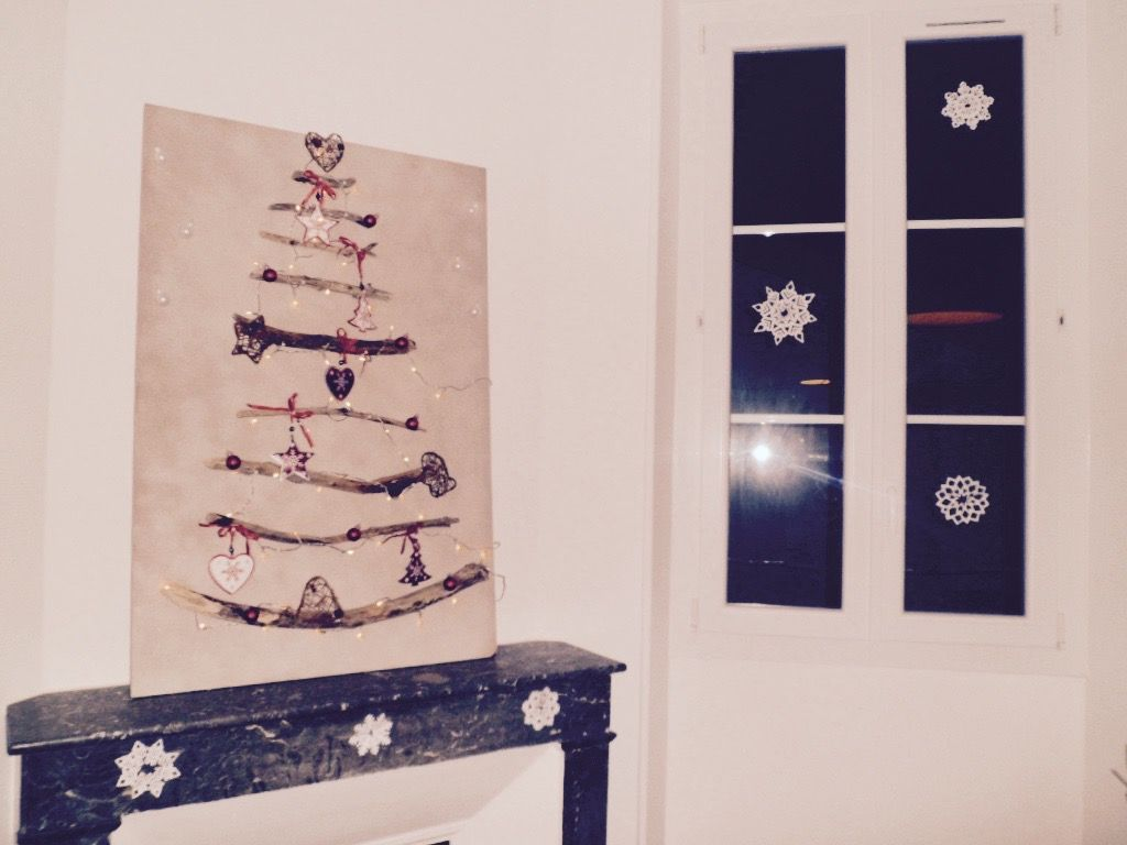Arbre de Noël en bois flotté fait maison ! Christmas tree, homemade, décoration