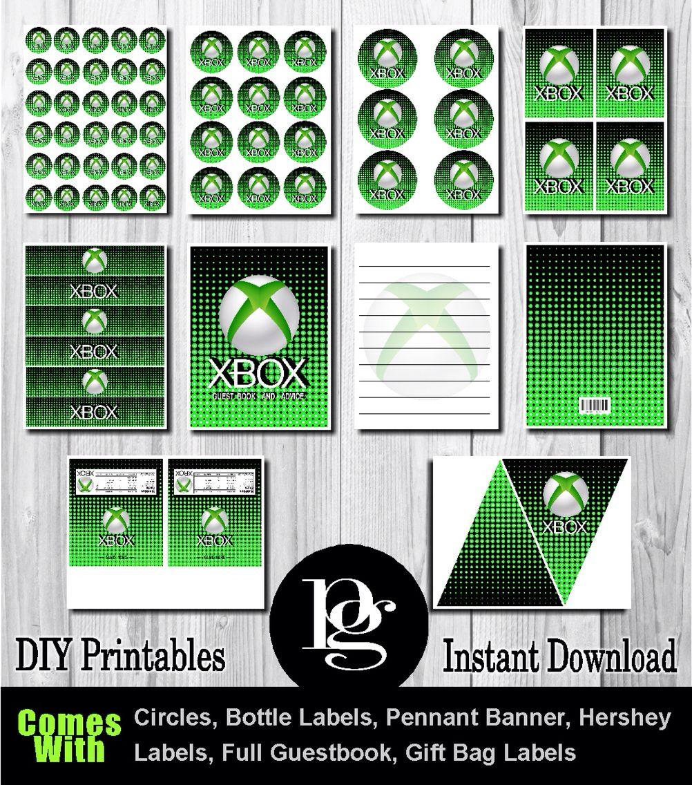 Xbox Printable Party Kit
