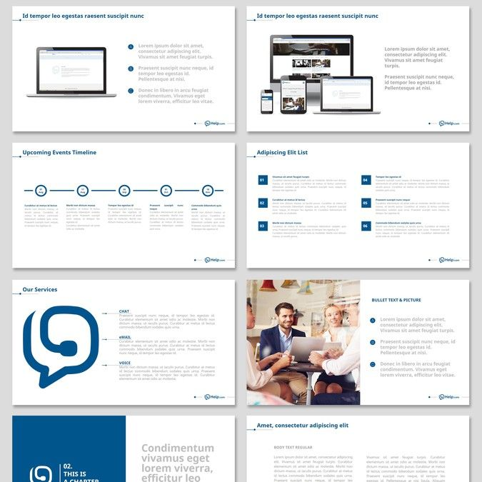Create a professional presentation template for Help! by Emil C