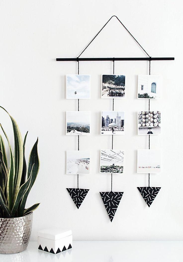 18 modern minimalist diy decor ideas for aquarius pinterest swooning over this elegant photo wall hanging diy project solutioingenieria Choice Image