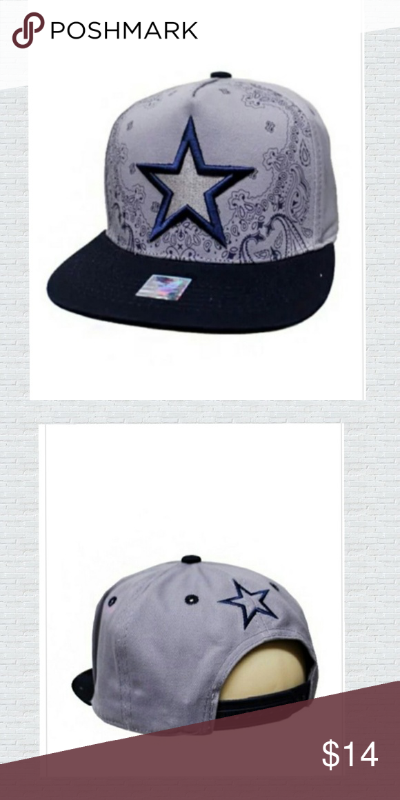 Cowboys Star caps Dallas Cowboys Star Embroidered and Mandala Printed  Cotton Snap Back Fabric  100% Cotton ✓️Price is firm ✓️Bundles and save ... 39f5ded46