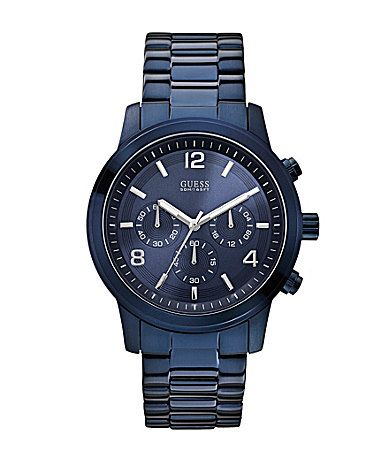 Guess Mens Blue Ion Plated Chronograph Watch #Dillards
