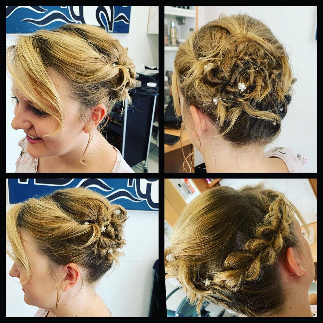 Zivilhochzeit Hochsteckfrisur Hochzeitsfrisur Brautfrisur Wellnes Creativ Naters Hair Wrap Hair Styles Beauty