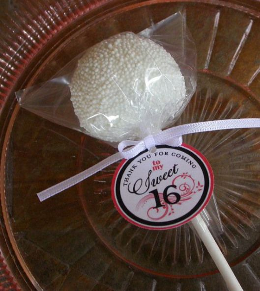 Sweet 16 Birthday Favor Tags for cake pops by SimplyDivineDesserts $12.00