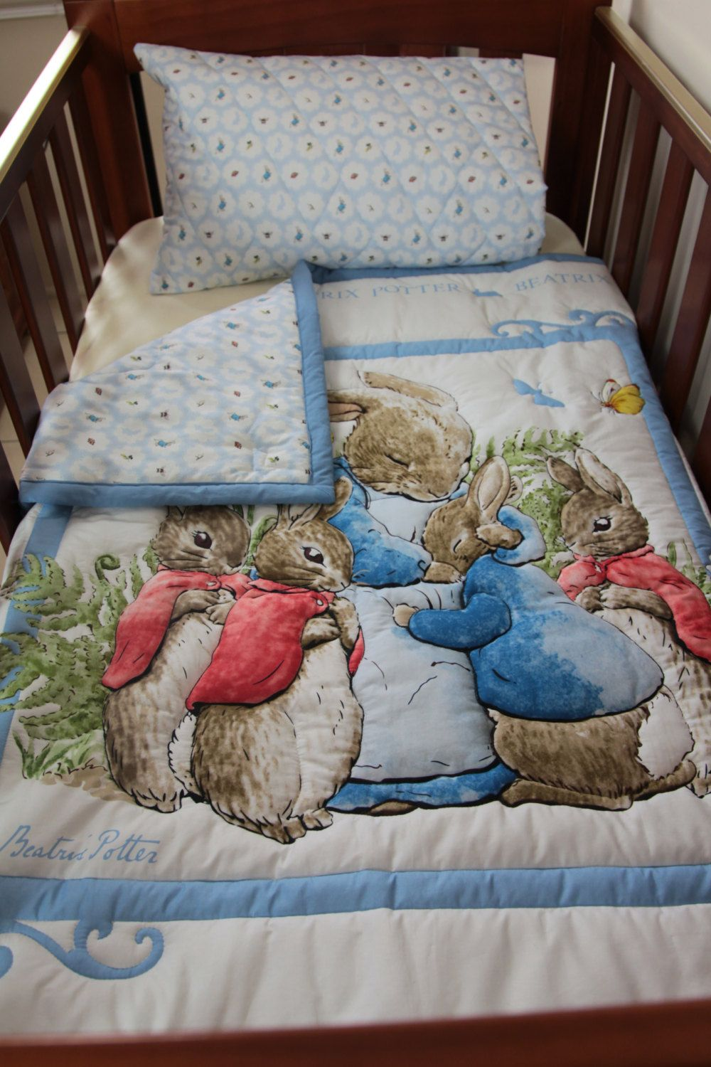 Quilt Baby Beatrix Potter Blue Peter Rabbit Amp Pillow Case