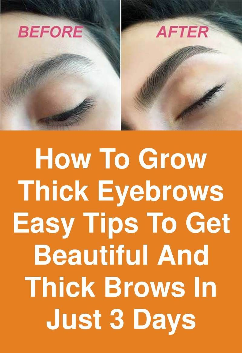 How to grow thick Eyebrows - Easy tips to get beautiful ...