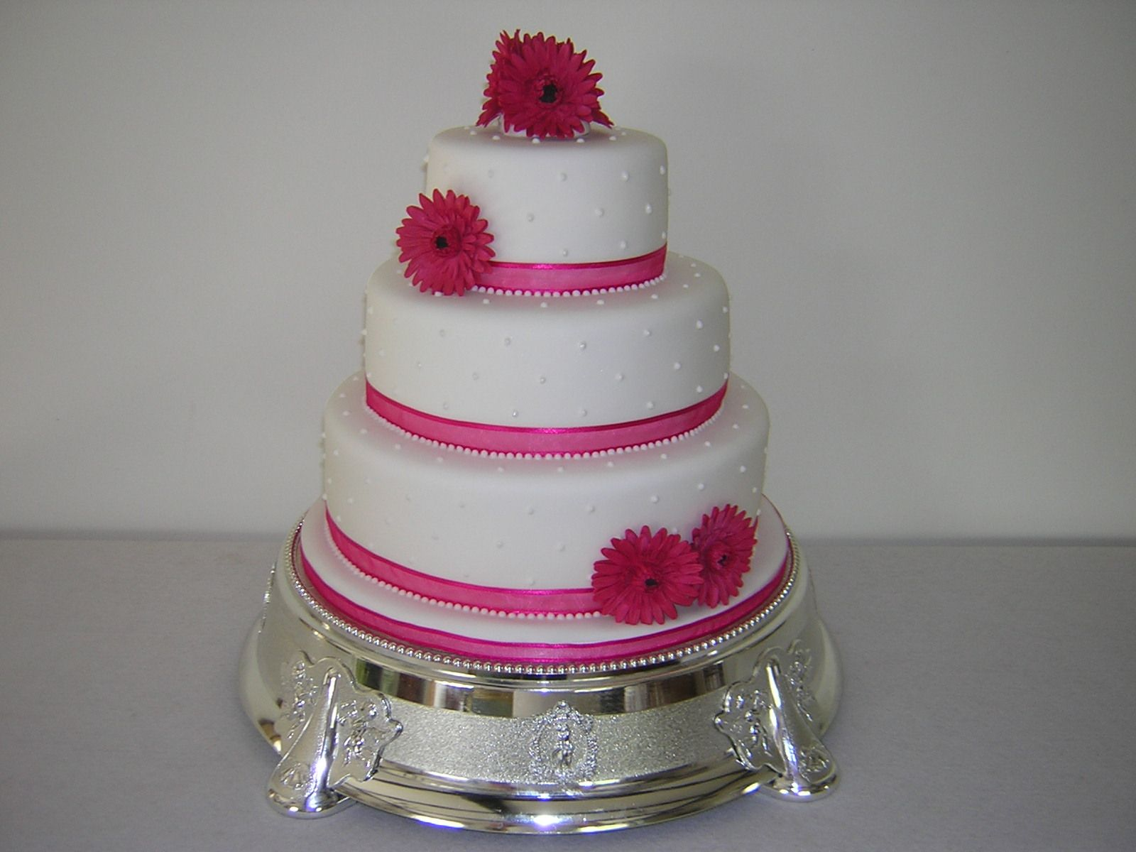 Orange And Hot Pink Fucshia Black Shower Find This Pin More On 2 Tier Simple Wedding Cake