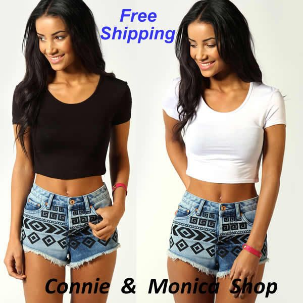 american apparel wholesale women clothes summer black white crop ...