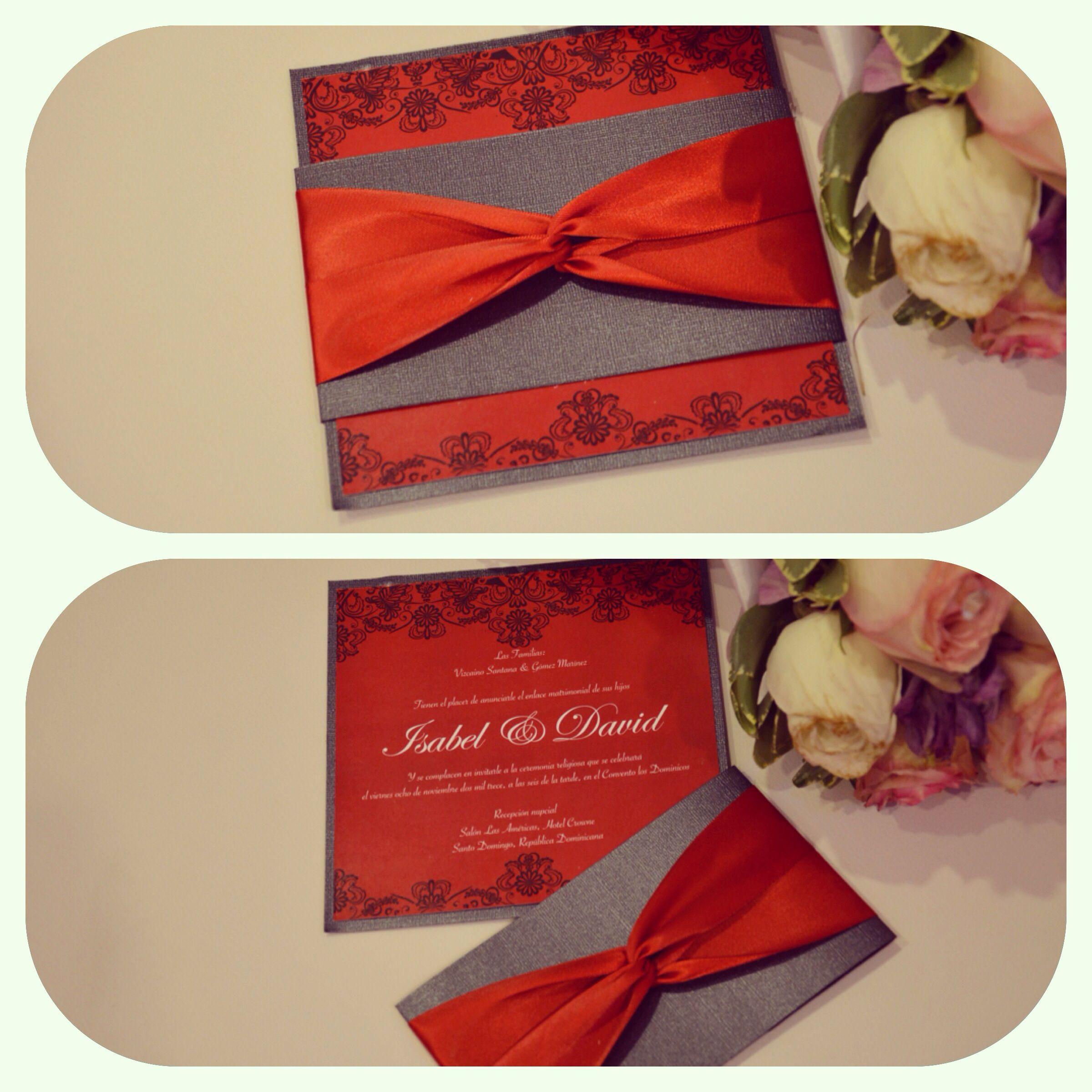 Invitaciónes boda color rojo!!! Bridal/ Wedding