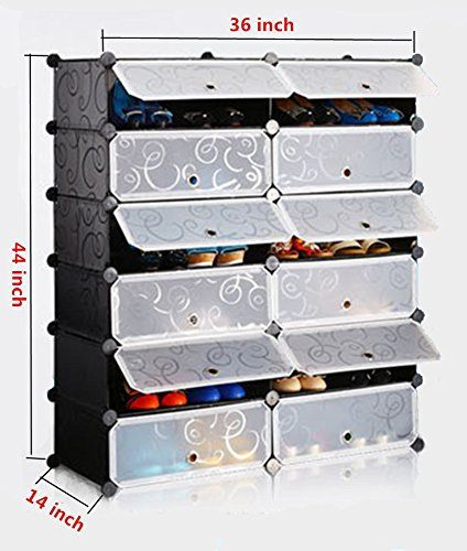 Shoe Racks And Organizers Gorgeous Amazonsmile Unicoo  Multi Use Diy Plastic 12 Cube Shoe Rack Review