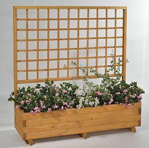 Blumenkasten mit Spalier Rasenkanten mit Rankgitter aus
