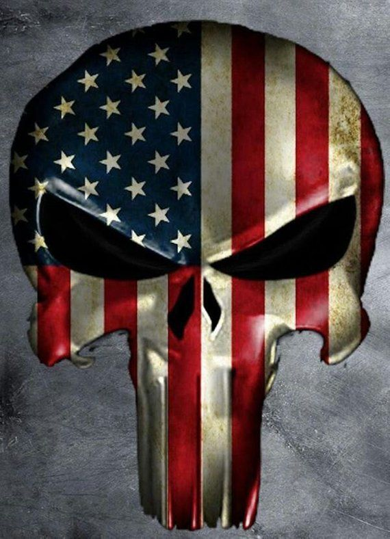 4acd4e311c3 American Flag Punisher Contour Cut Decal Stickers