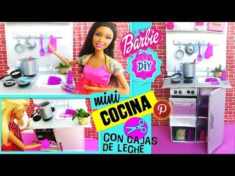 Cajas Leche Como De Mini Reciclando Hacer Cocina Para Muñecas Barbie WIHe9ED2Y