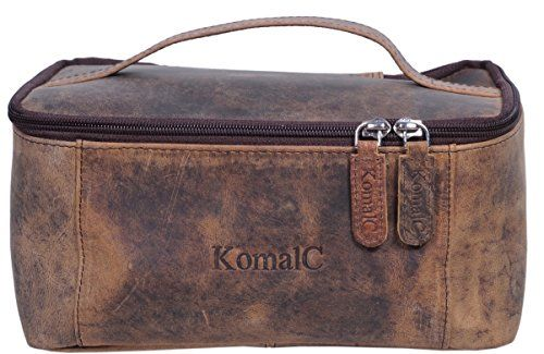 be68c0b855 KomalC Genuine Unisex Vanity Leather Dopp kit Travel Toiletry Bag Shaving  Kit     Check this awesome product by going to the link at the image.