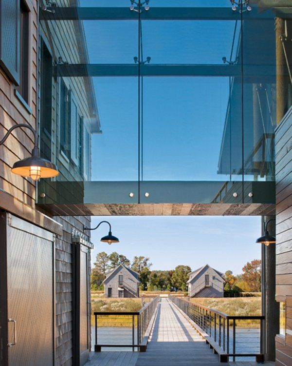 A Glass Bridge Connects Public And Private Spaces, Framing