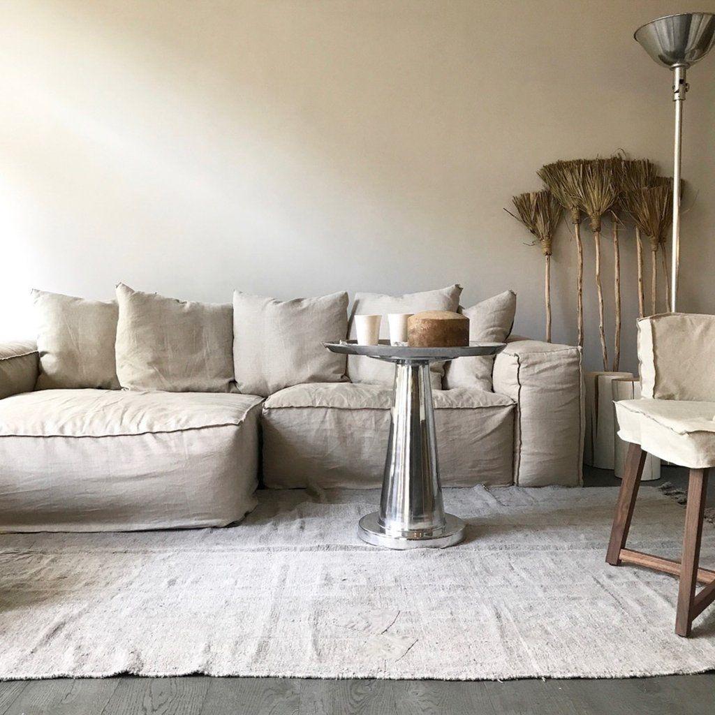 Natural linen aspettami sofa