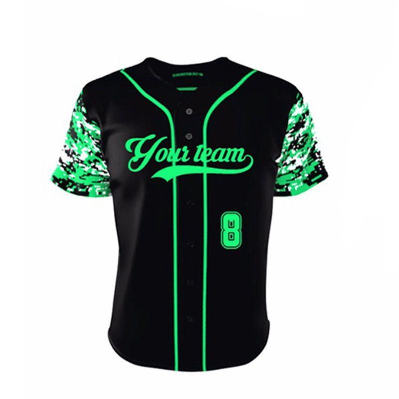 New Pattern Breathable Baseball Jerseys Tops Sublimated Cheap Custom Camo  Quick Dry Baseball Training Shirts For Men   Women 2a306084f1