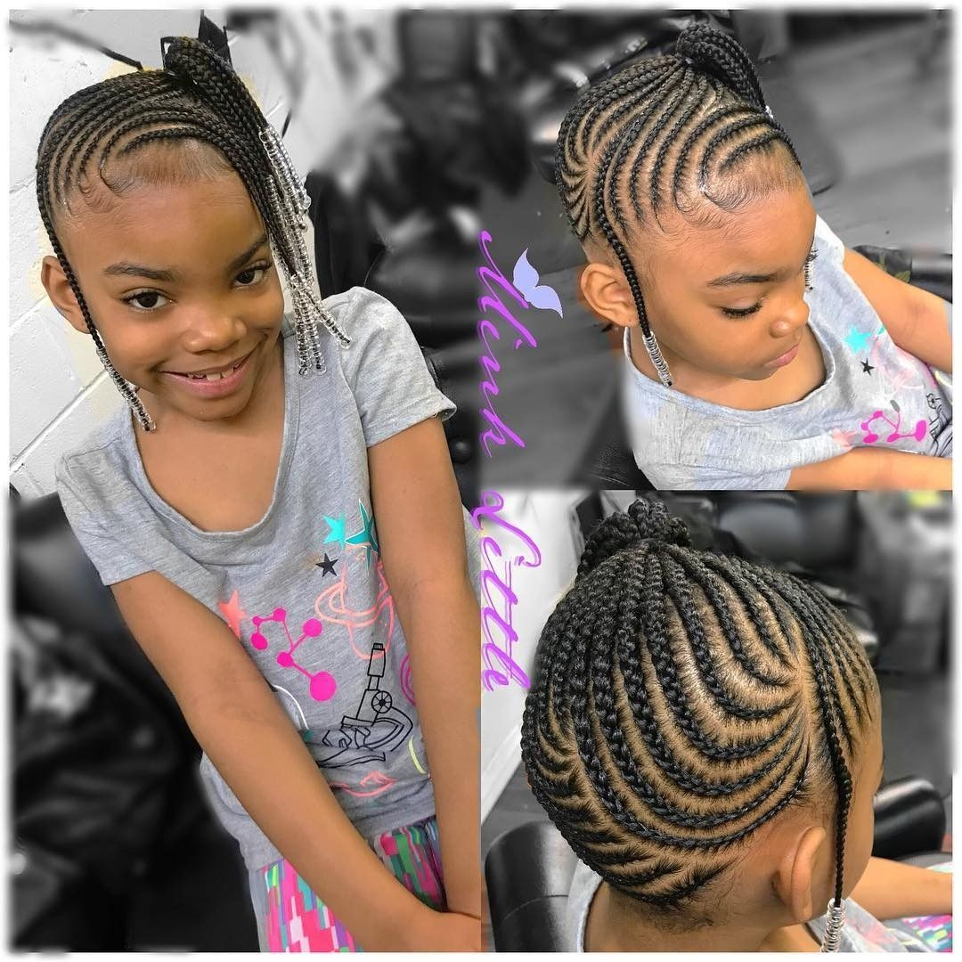 Pin By Sherice Lester On Nails Kids Braided Hairstyles Lil Girl Hairstyles Braids For Kids
