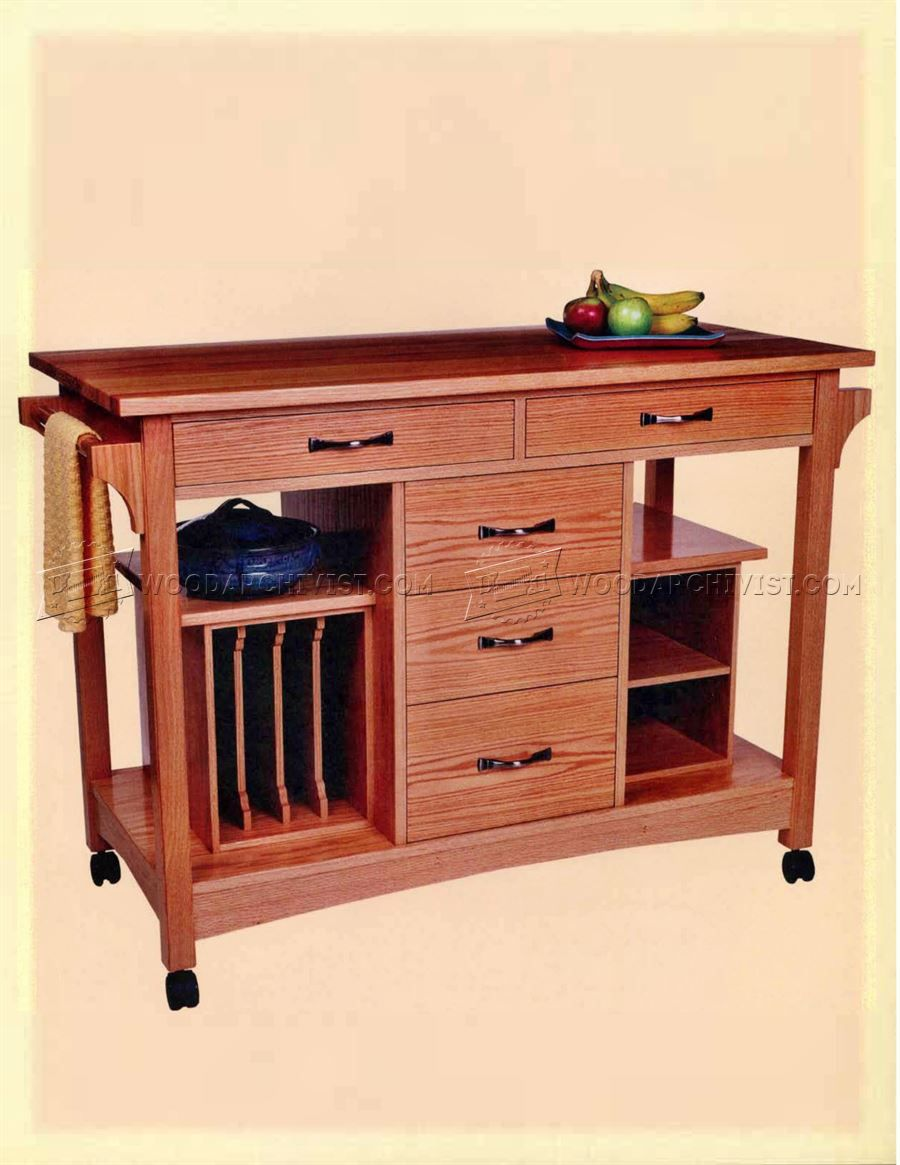 Good #3201 Kitchen Work Station Plans   Furniture Plans