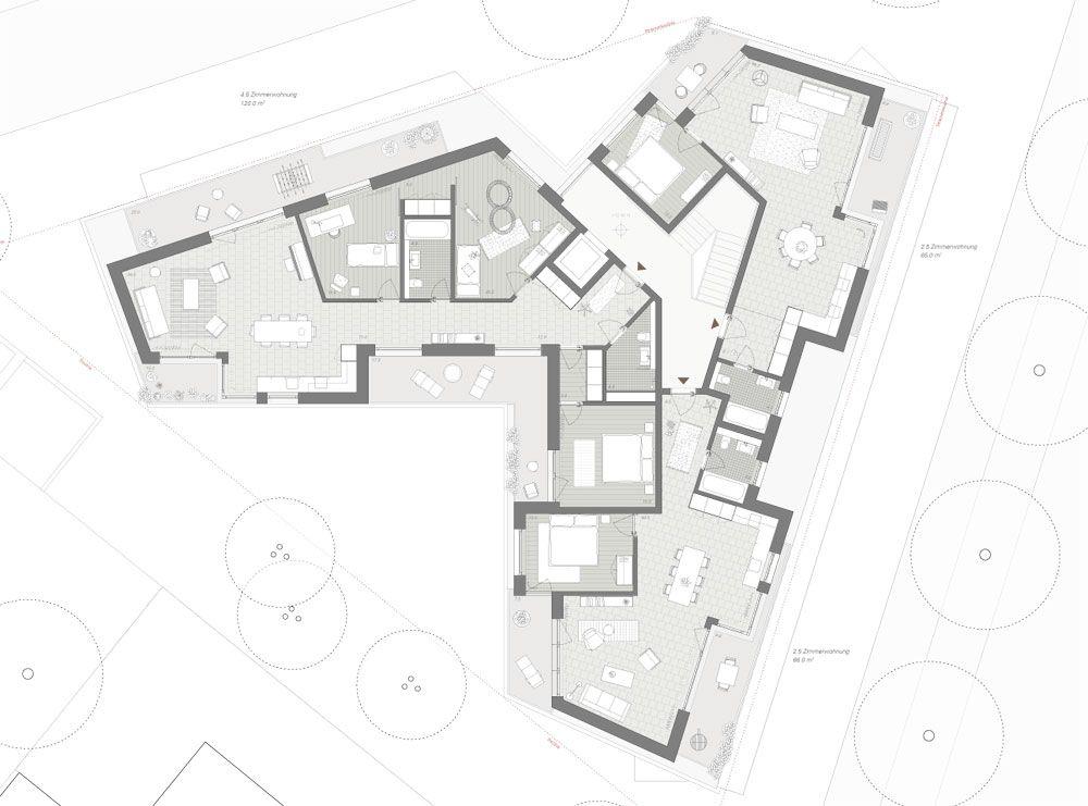 grundriss attika grundrisse wohnungsbau pinterest grundrisse architektur und wohnungsbau. Black Bedroom Furniture Sets. Home Design Ideas