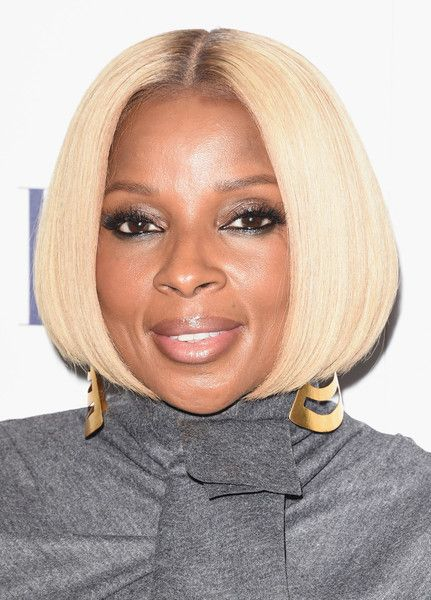 Mary J Blige Bob Blonde Hair Examples Cute Hairstyles