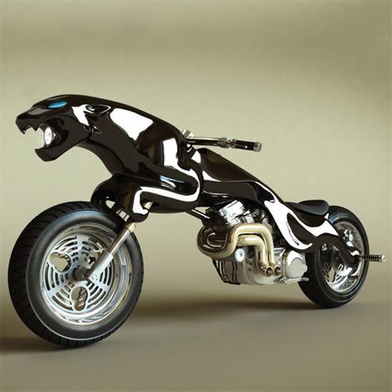 Jaguar and Charging Bull Motorcycles – Cars show