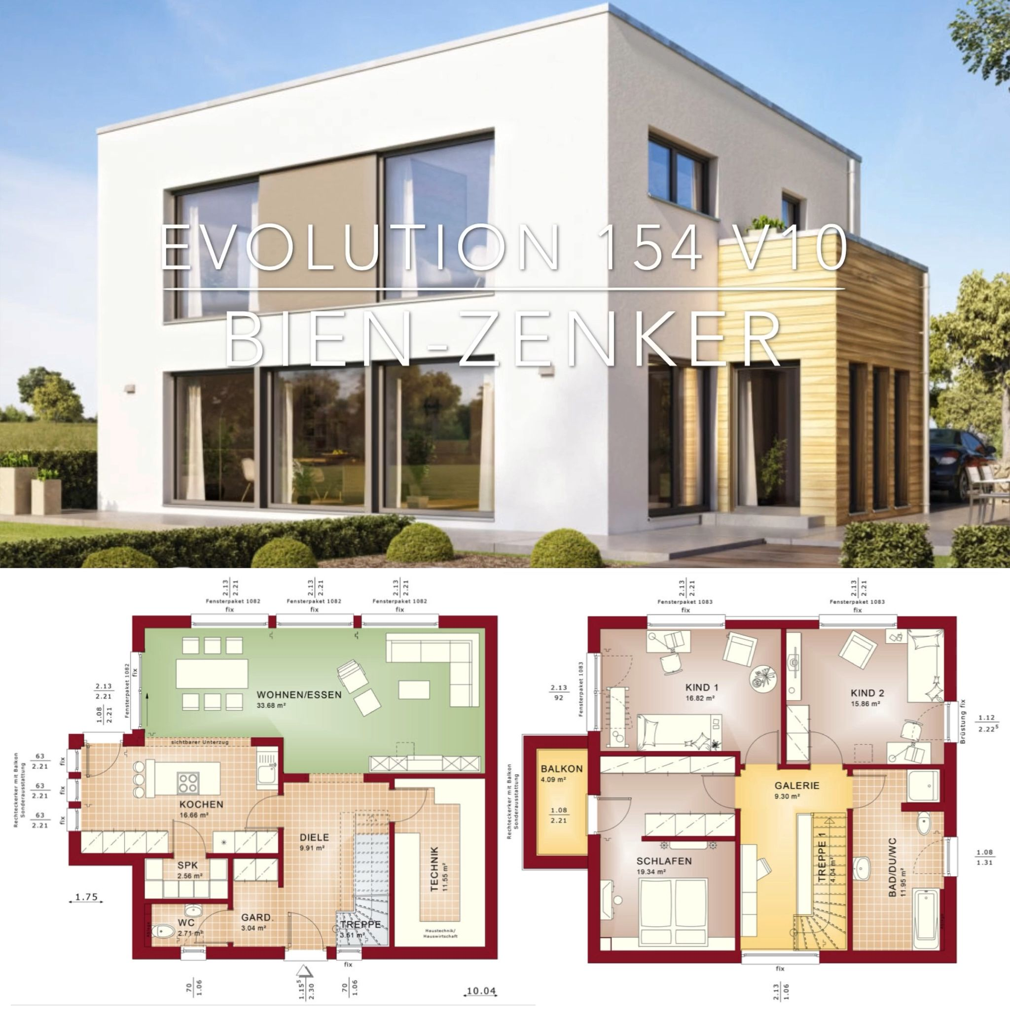Modern Bauhaus Architecture House Plan Design – Evolution 154 V10  – Popular House Plans