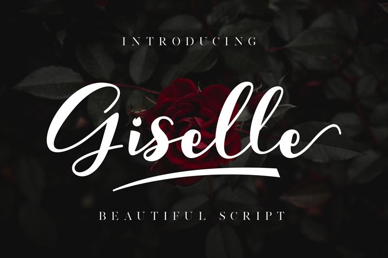 Giselle Font Instagram font, Romantic fonts