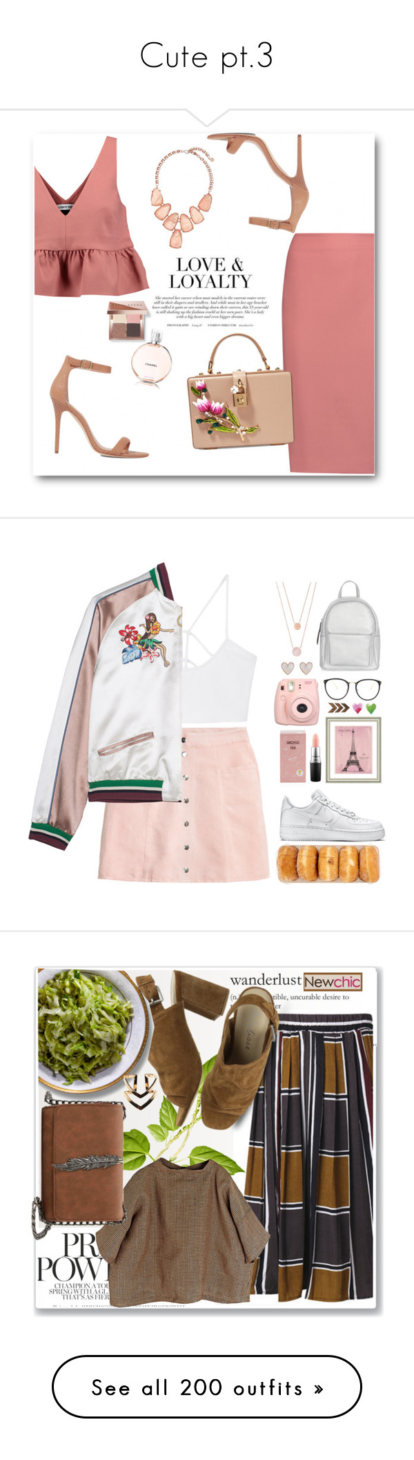 """""""Cute pt.3"""" by lexilex-369 ❤ liked on Polyvore featuring Elizabeth and James, Halston Heritage, Dolce&Gabbana, Kendra Scott, Bobbi Brown Cosmetics, MANGO, H&M, NIKE, New Look and Fujifilm"""