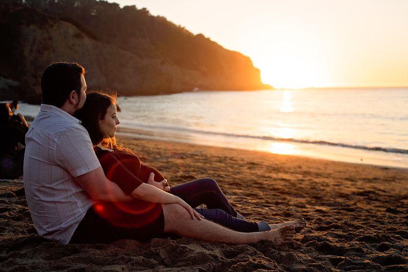 Maternity Photography Baker Beach San Francisco California