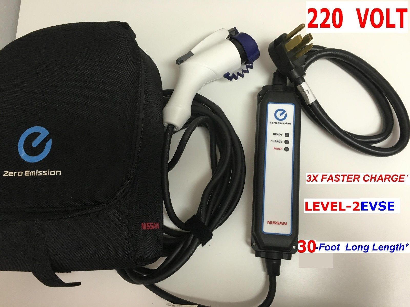 3xfaster Charge Level 2 Evse Upgraded 220 240 Volt Nissan Leaf Ev Charger 30feet Ebay Motors Parts Accessories Car Truck