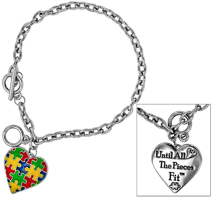 cln bracelet on awareness with charm collection paracord survival adjustable autistic puzzle theteacherswife ebay autism s piece