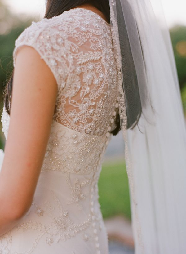 Anne Barge wedding gown.