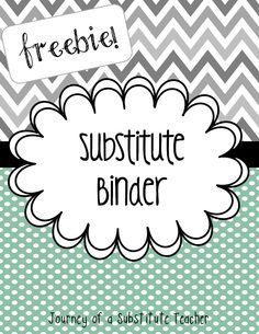 free editable substitute binder bts13 teacher bts