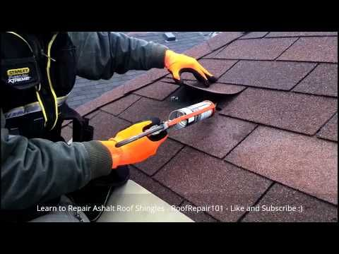 How To Repair Roof Shingles Replace Missing Aspahlt Roofing Shingles Step By Step Guide Part Two Starts At 9 26 Lea Roof Repair Diy Roof Shingles Roof Repair