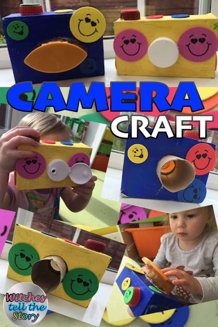 CAMERA CRAFT A Fun And Easy Craft For Children To Make Play Using Recycled Materials In The Home You Can Camera