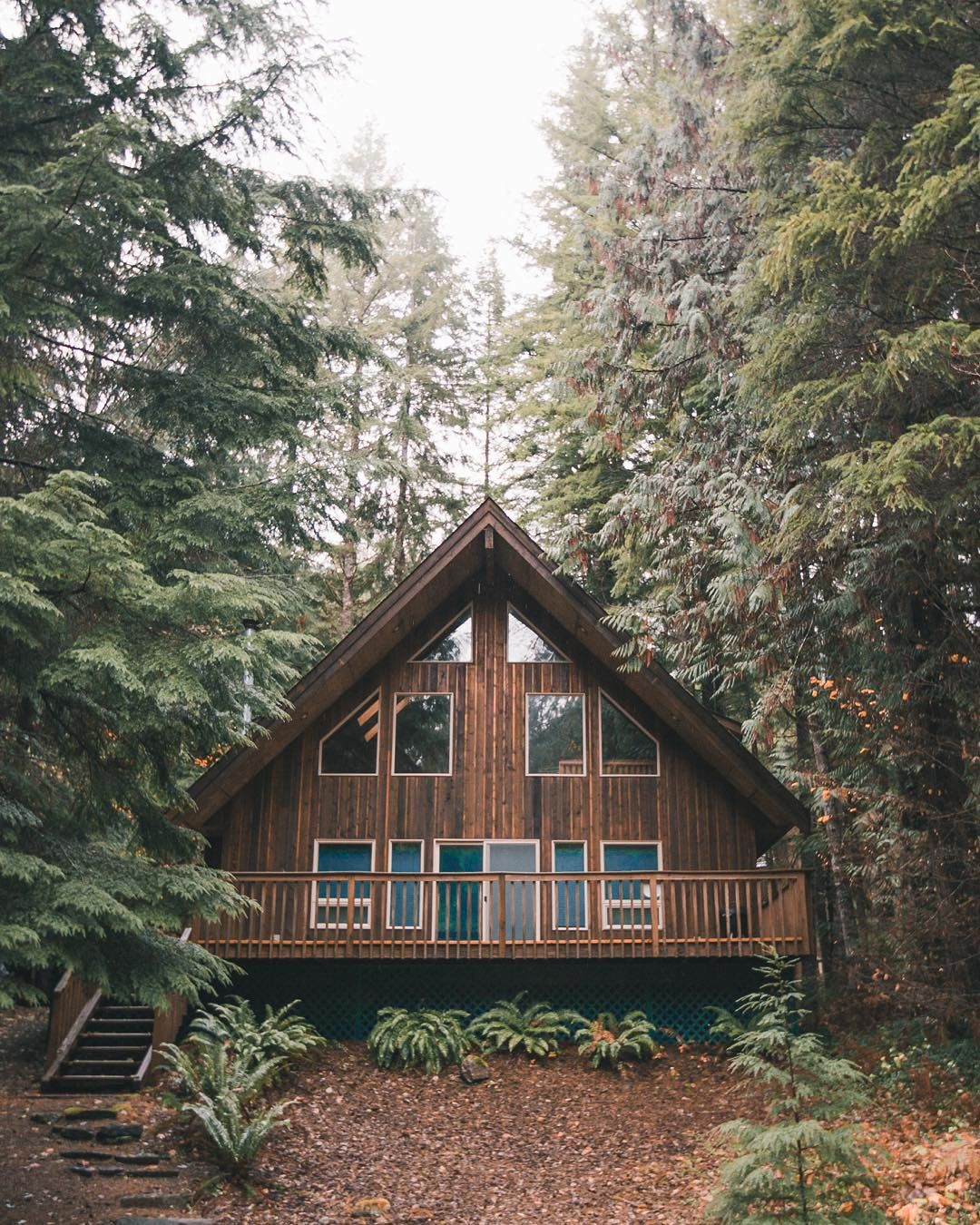 Wooden house like from the fairy tale. https//www.quick