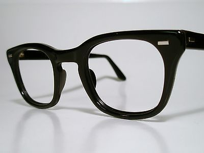 b124ad67292 True Vintage Mens Sun Eyeglasses Frame USGI Issue BCG s USS Black 50 26 LG