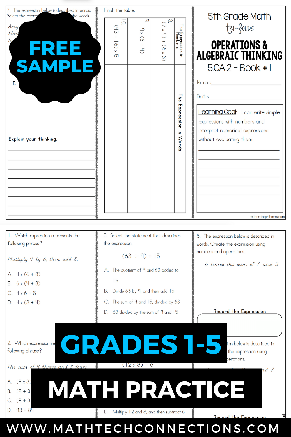 Small Group Instruction With Math Tri Folds Free Download 5th Grade Math Math Textbook Guided Math Groups [ 1500 x 1000 Pixel ]