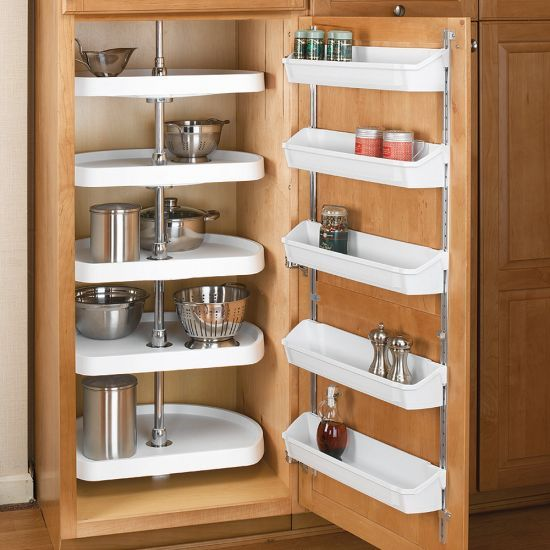 Five Corners Kitchen: D-Shape 5 Shelf Corner Lazy Susans, Rev-a-Shelf 6265