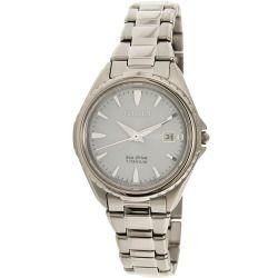 Citizen Women's Eco-Drive Super Titanium EW2410-54L Silver Stainless-Steel Eco-Drive Watch
