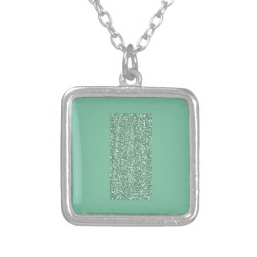 Mint Green with faux glitter Pendants