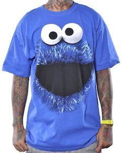 62518298 Cookie Monster Face Men's T-Shirt | Sesame Street | Cookie monster t ...